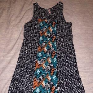 Xhiliration Pattern Dress $10